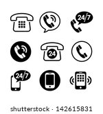 9 icon set   communication ... | Shutterstock .eps vector #142615831