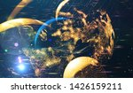 explosion of stars in space....   Shutterstock . vector #1426159211