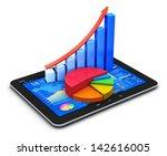mobile office  stock exchange... | Shutterstock . vector #142616005
