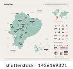 Vector Map Of Ecuador. Country...