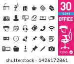 set of 30 office icons | Shutterstock .eps vector #1426172861