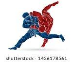 judo sport action cartoon... | Shutterstock .eps vector #1426178561