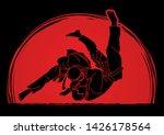 judo sport action cartoon... | Shutterstock .eps vector #1426178564