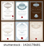certificate or diploma vintage... | Shutterstock .eps vector #1426178681