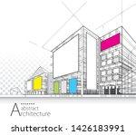 3d illustration architecture... | Shutterstock .eps vector #1426183991