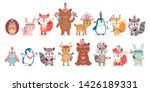 woodland boho characters   ... | Shutterstock .eps vector #1426189331
