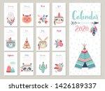 Calendar 2020. Cute Monthly...