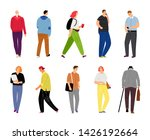 cartoon casual people on white. ...   Shutterstock .eps vector #1426192664