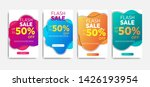 sale banner template with... | Shutterstock .eps vector #1426193954