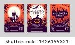 halloween flyer with pumpkins ... | Shutterstock .eps vector #1426199321
