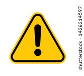 warning attention sign with... | Shutterstock .eps vector #1426214597