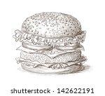hand drawn illustration of... | Shutterstock .eps vector #142622191