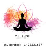 international yoga day vector... | Shutterstock .eps vector #1426231697
