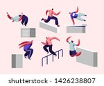 parkour in city. young men... | Shutterstock .eps vector #1426238807