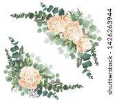 vector corner of peony flowers  ...   Shutterstock .eps vector #1426263944