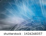 technology icons with abstract...   Shutterstock . vector #1426268357