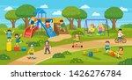 happy excited kids having fun... | Shutterstock .eps vector #1426276784