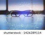 data tech hologram with glasses ...   Shutterstock . vector #1426289114