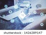 multi exposure of writing hands ...   Shutterstock . vector #1426289147