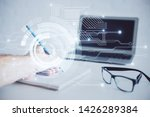 writing man with technology... | Shutterstock . vector #1426289384