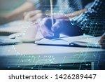 writing man's hands background...   Shutterstock . vector #1426289447