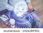 multi exposure of technology...   Shutterstock . vector #1426289501