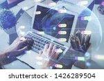 multi exposure of technology...   Shutterstock . vector #1426289504