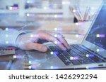 businessman working on laptop... | Shutterstock . vector #1426292294
