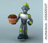 green robot   3d illustration   Shutterstock . vector #1426320137