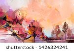 abstract oil painting landscape.... | Shutterstock . vector #1426324241