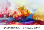 Abstract Oil Painting Landscape....