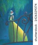 night dreams. fantasy bridge.... | Shutterstock . vector #1426329374
