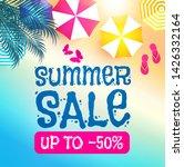 summer sale background. warm...   Shutterstock .eps vector #1426332164