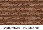 brick wall  brown bricks wall...   Shutterstock .eps vector #1426335731