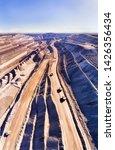 deep open cut black coal mine... | Shutterstock . vector #1426356434