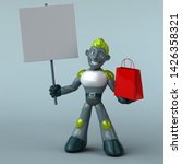 green robot   3d illustration   Shutterstock . vector #1426358321