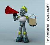 green robot   3d illustration   Shutterstock . vector #1426358354