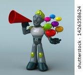 green robot   3d illustration   Shutterstock . vector #1426358624