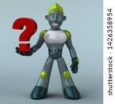 green robot   3d illustration   Shutterstock . vector #1426358954