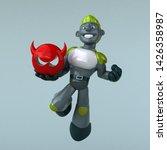 green robot   3d illustration   Shutterstock . vector #1426358987