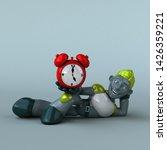green robot   3d illustration   Shutterstock . vector #1426359221