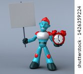 red robot   3d illustration   Shutterstock . vector #1426359224