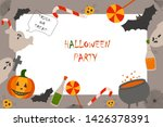 various objects for halloween... | Shutterstock .eps vector #1426378391