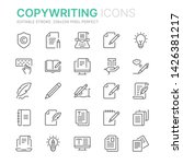 collection of copywriting... | Shutterstock .eps vector #1426381217