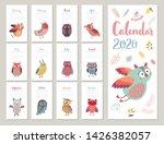 calendar 2020. cute monthly...   Shutterstock .eps vector #1426382057
