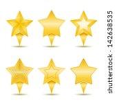 stars icons  vector eps10... | Shutterstock .eps vector #142638535