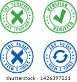 simple four rubber stamps vector   Shutterstock .eps vector #1426397231
