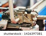 tube bending. industrial bender ... | Shutterstock . vector #1426397381