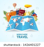 realistic 3d detailed world... | Shutterstock .eps vector #1426401227