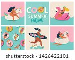 flamingo  unicorn and swan... | Shutterstock .eps vector #1426422101
